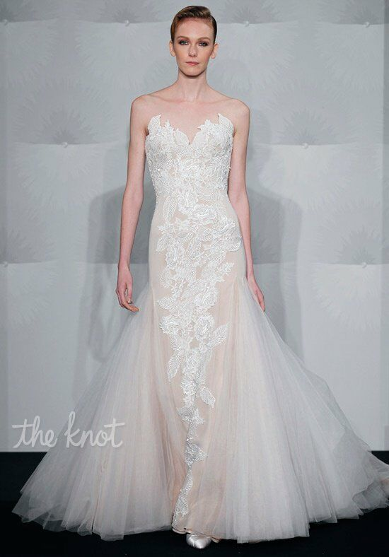 Mark zunino for kleinfeld 65 wedding dress the knot for Kleinfeld mermaid wedding dresses