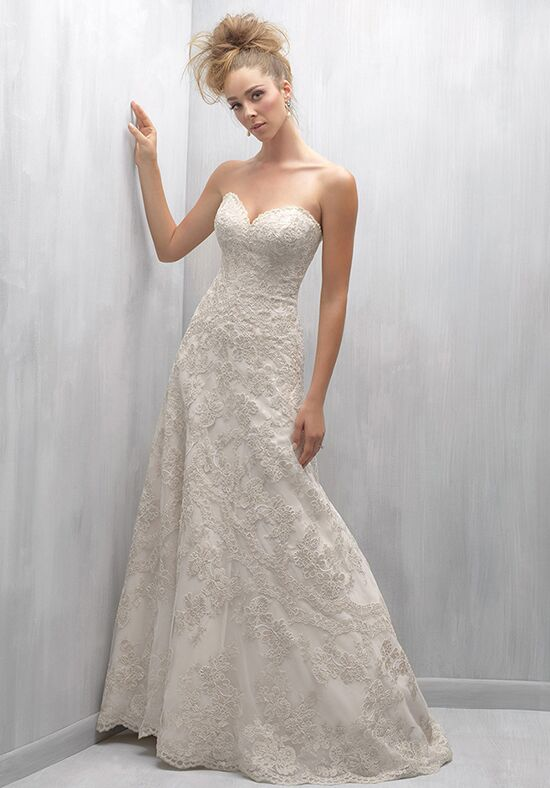 Madison james mj253 wedding dress the knot for Madison james wedding dress prices