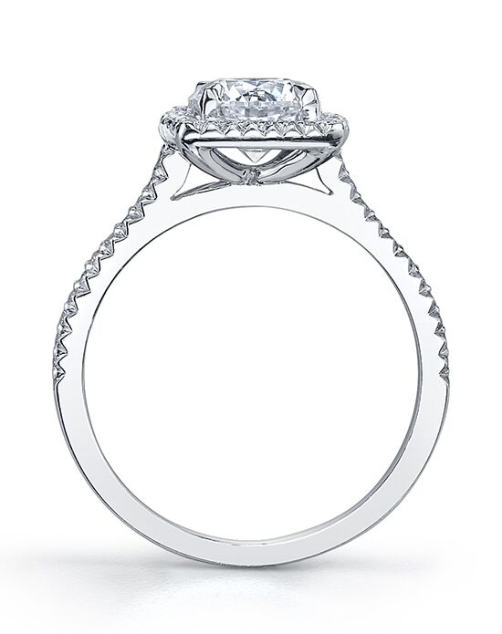 michael b royal trois cushion engagement ring the knot