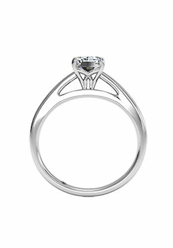 Ritani Emerald Cut Solitaire Diamond Cathedral Engagement ...
