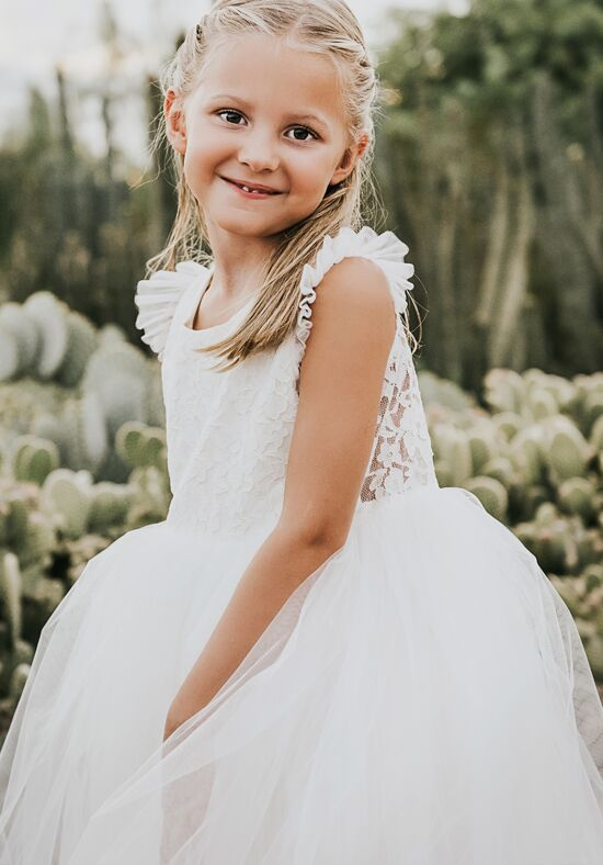 FATTIEPIE apple rustic Ivory Flower Girl Dress