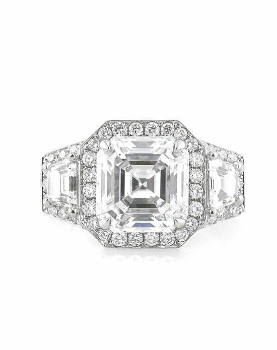 Mark Broumand Glamorous Asscher Cut Engagement Ring