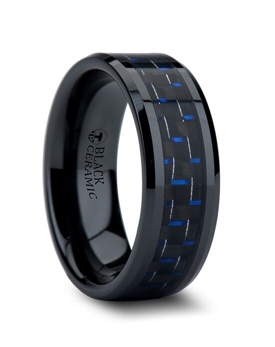 Mens Tungsten Wedding Bands W874-BBCF Tungsten Wedding Ring
