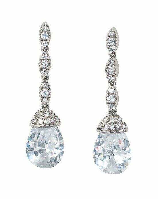 Anna Bellagio MCKENZIE DAINTY SWAROVSKI CRYSTAL BRIDAL DROP EARRING Wedding Earring photo