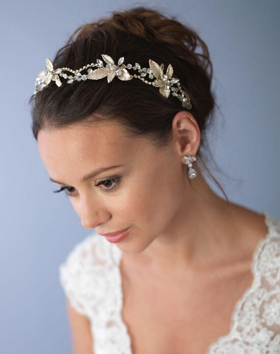 USABride Jovanna Floral Gold Headband TI-3287-G Wedding Headbands photo