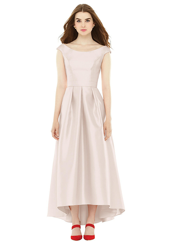 Alfred Sung D722 Bateau Bridesmaid Dress
