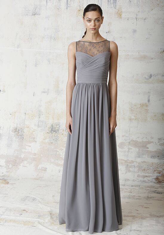 Monique Lhuillier Bridesmaids 450222 Illusion Bridesmaid Dress