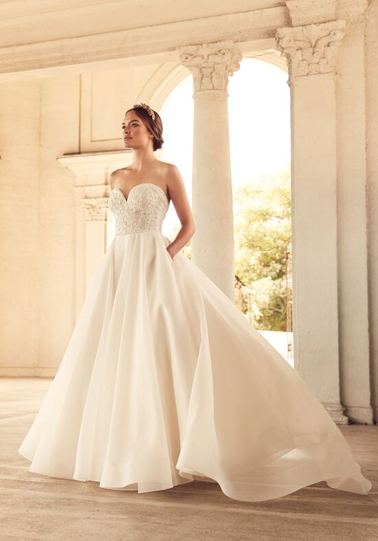 Paloma Blanca 4785 Ball Gown Wedding Dress