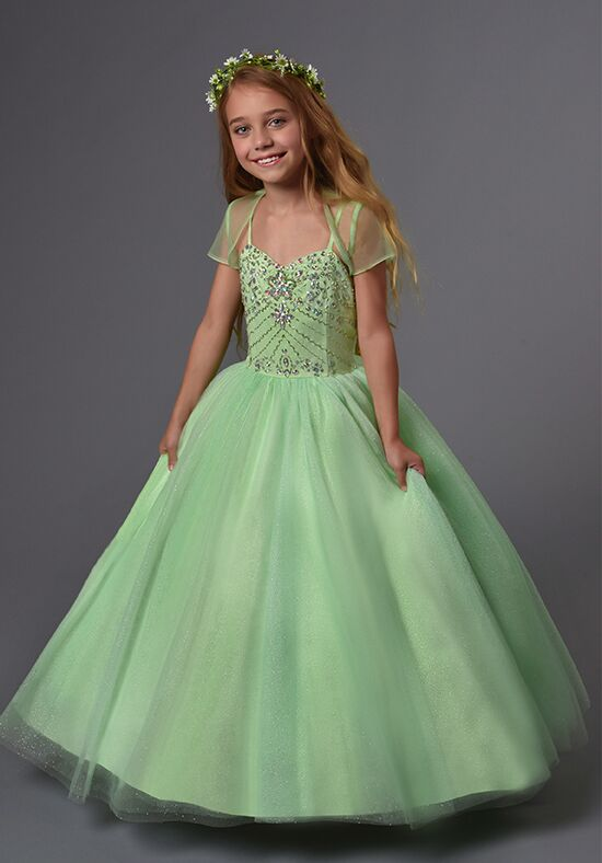 Cupids by Mary's F567 Green Flower Girl Dress