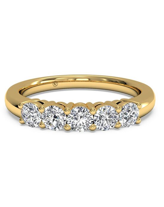 Ritani Women's Five-Stone Diamond Wedding Band - in 18kt Yellow Gold (0.50 CTW) Gold Wedding Ring