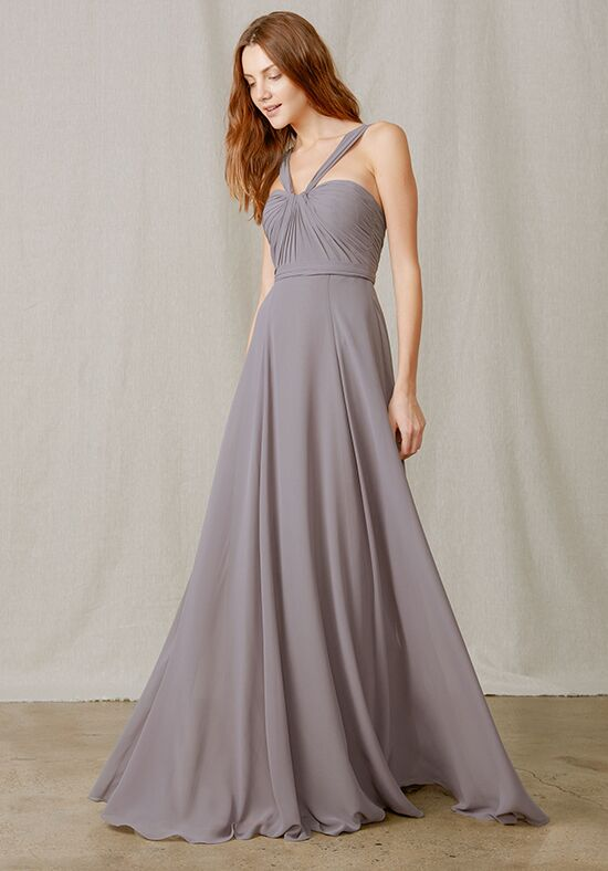 Amsale Bridesmaids Cerisa V-Neck Bridesmaid Dress