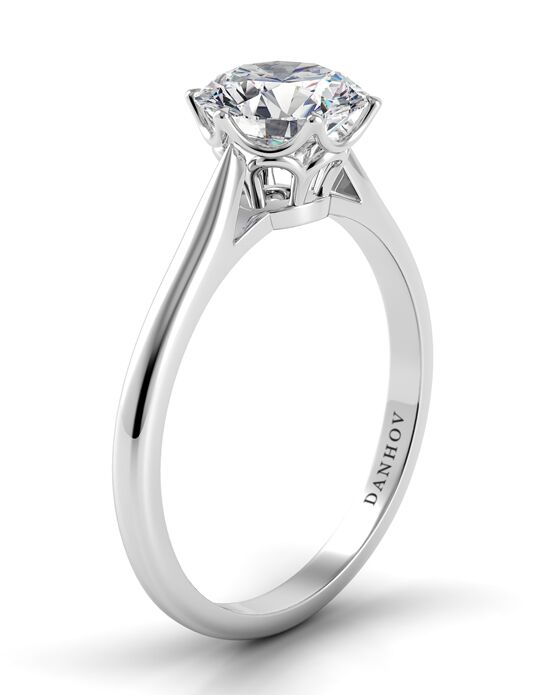Danhov Classic Round Cut Engagement Ring
