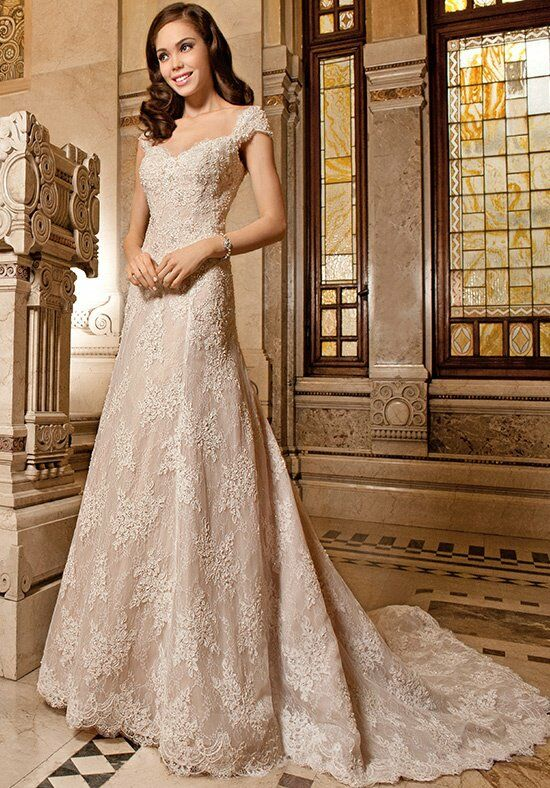 Demetrios 1494 A-Line Wedding Dress