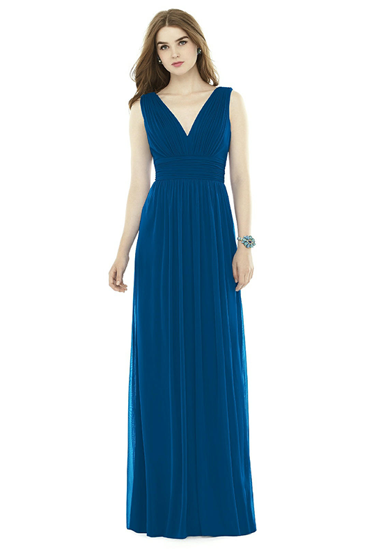Alfred Sung D719 V-Neck Bridesmaid Dress