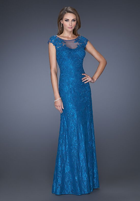 La Femme Evening 20490 Blue Mother Of The Bride Dress