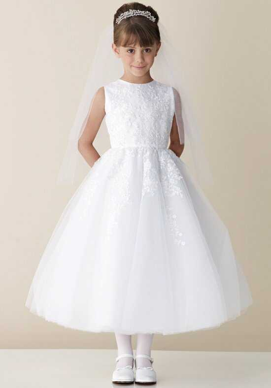 Joan Calabrese by Mon Cheri 110325 White Flower Girl Dress