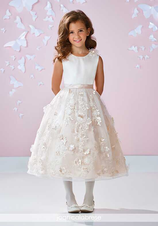 Joan Calabrese by Mon Cheri 117332 Ivory Flower Girl Dress