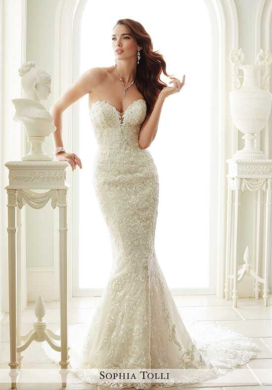 Sophia Tolli Y21671 Milano Sheath Wedding Dress
