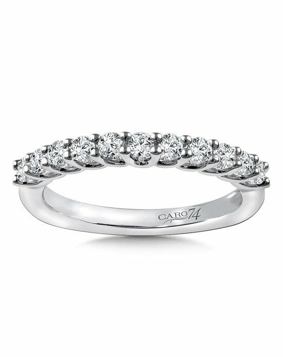 Caro 74 CRS810BW White Gold Wedding Ring