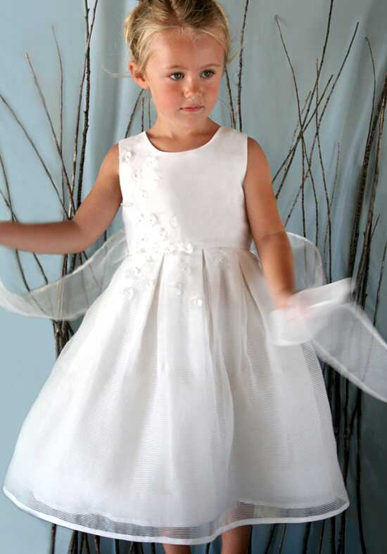 Isabel Garretón Beloved White Flower Girl Dress