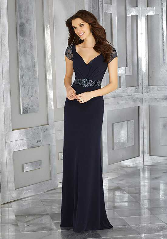 MGNY 71626 Blue Mother Of The Bride Dress