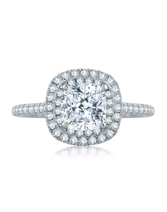 A.JAFFE Elegant Cushion Cut Engagement Ring