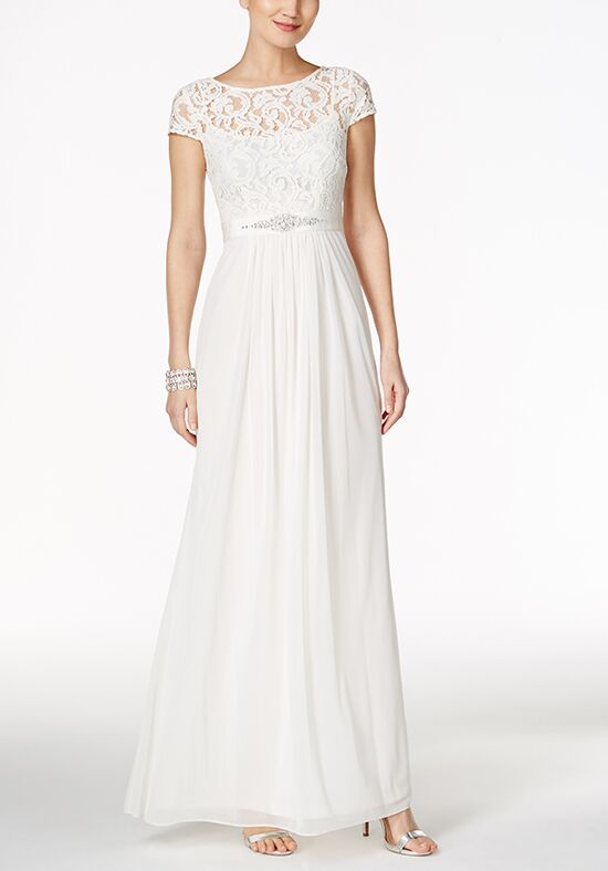 Adrianna Papell Wedding Dresses Adrianna Papell Lace Illusion Gown A-Line Wedding Dress