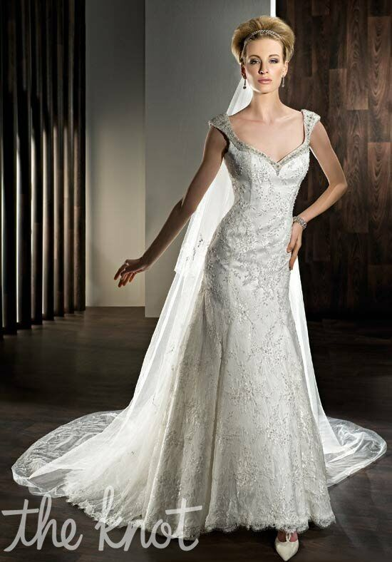 Demetrios 1432 Sheath Wedding Dress