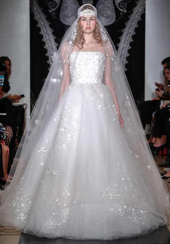 Reem Acra 4921 Ball Gown Wedding Dress