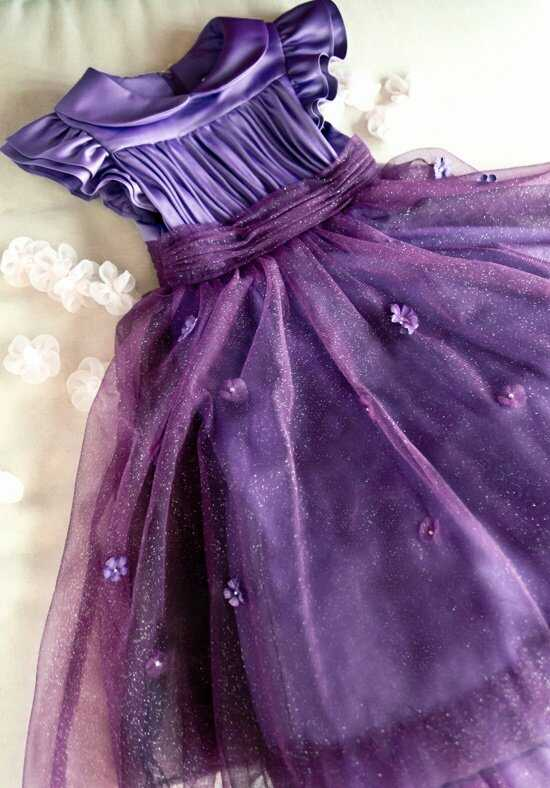 Eden Princess 12381 Purple Flower Girl Dress