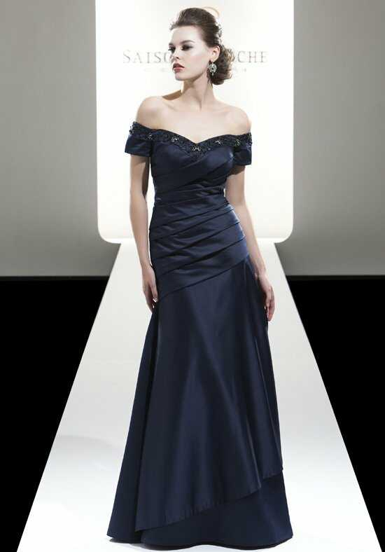 Saison Blanche Social Occasion 6037 Blue Mother Of The Bride Dress