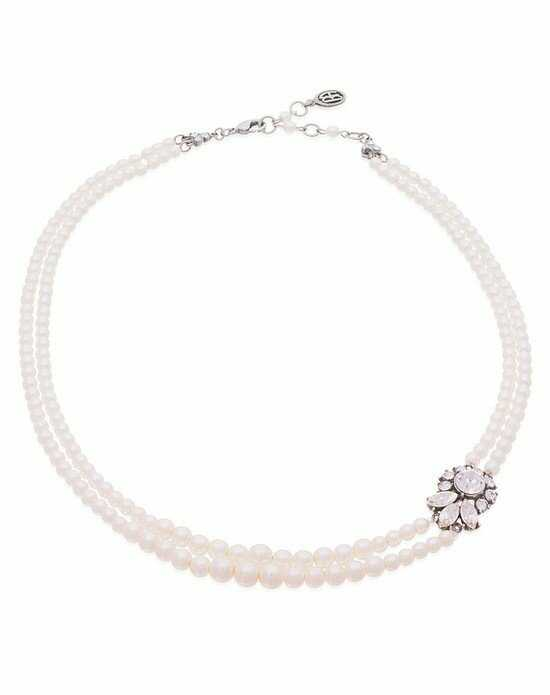 Thomas Laine Ben-Amun Glamour Two Strand Pearl Necklace Wedding Necklace photo