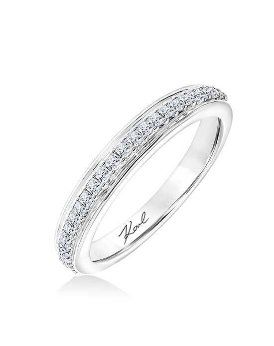 KARL LAGERFELD 31 KA135 L Platinum Wedding Ring