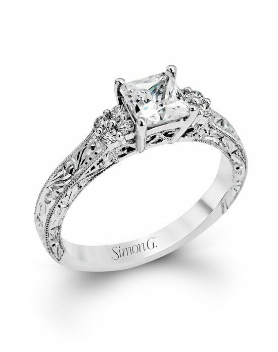 Simon G. Jewelry Princess Cut Engagement Ring