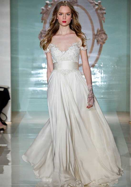 Reem Acra Lovely Girl A-Line Wedding Dress