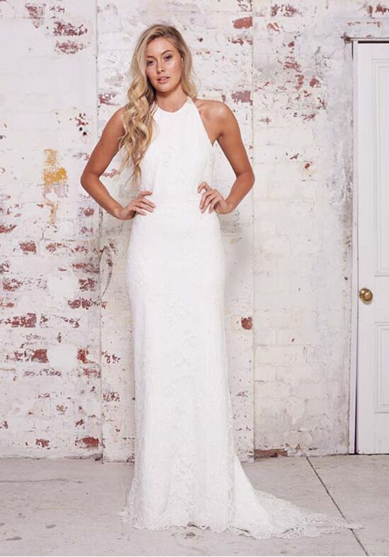KAREN WILLIS HOLMES Johanna Sheath Wedding Dress