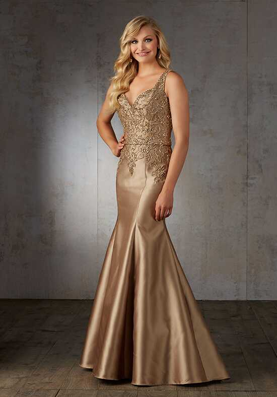 MGNY 71530 Gold Mother Of The Bride Dress