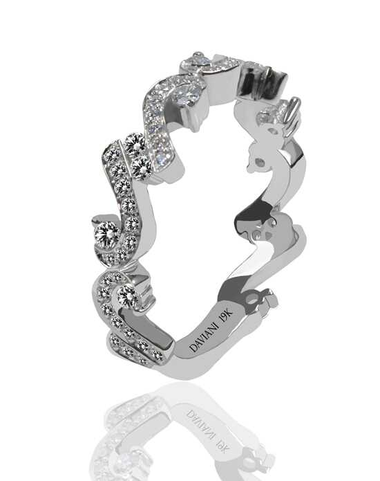 Daviani Love Links Collection DCR1181 White Gold Wedding Ring