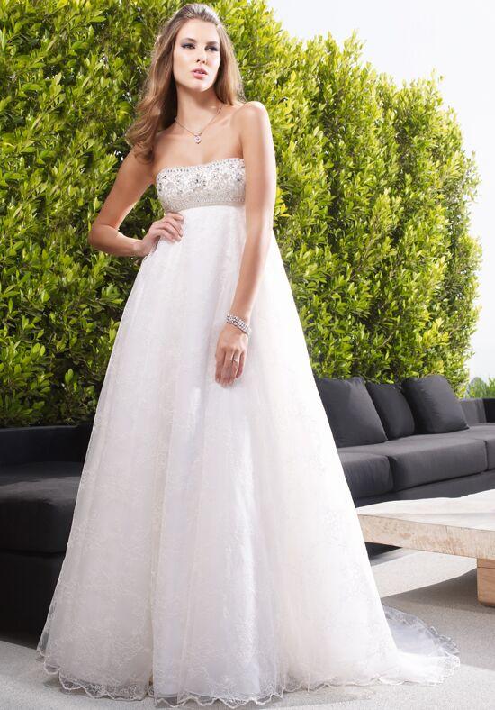 High Waist Silk Wedding Dress