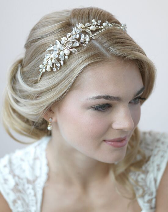 USABride Ivy Pearl & Crystal Gold Headband TI-3268-G Gold Headband