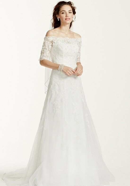 David's Bridal Jewel Style WG3734 Mermaid Wedding Dress