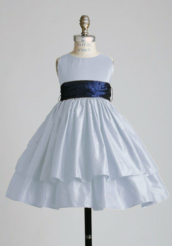 Elizabeth St. John Children Marissa Blue Flower Girl Dress