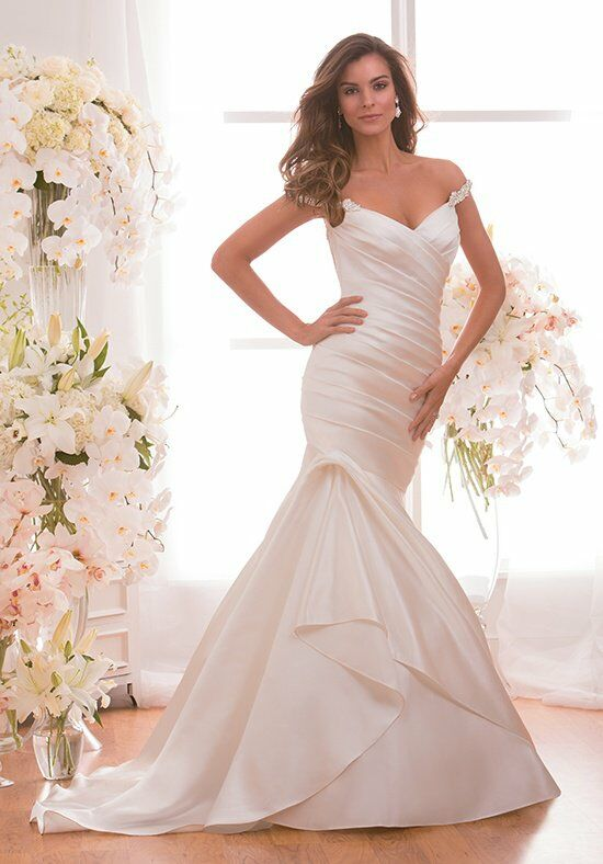 Jasmine collection f171002 wedding dress the knot for How do you preserve a wedding dress