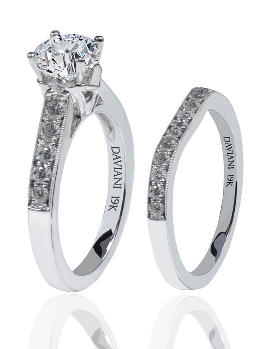 Daviani Love Links Collection DCR1145 White Gold Wedding Ring