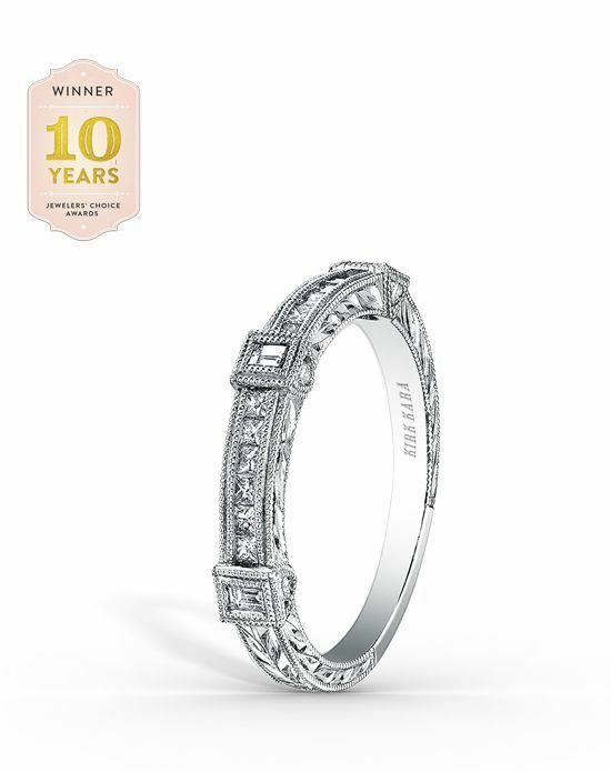 Kirk Kara Carmella Collection SS6757 - B White Gold Wedding Ring