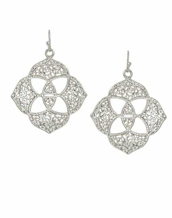 Kendra Scott Dawn Medallion Earrings in Silver Wedding Earring photo