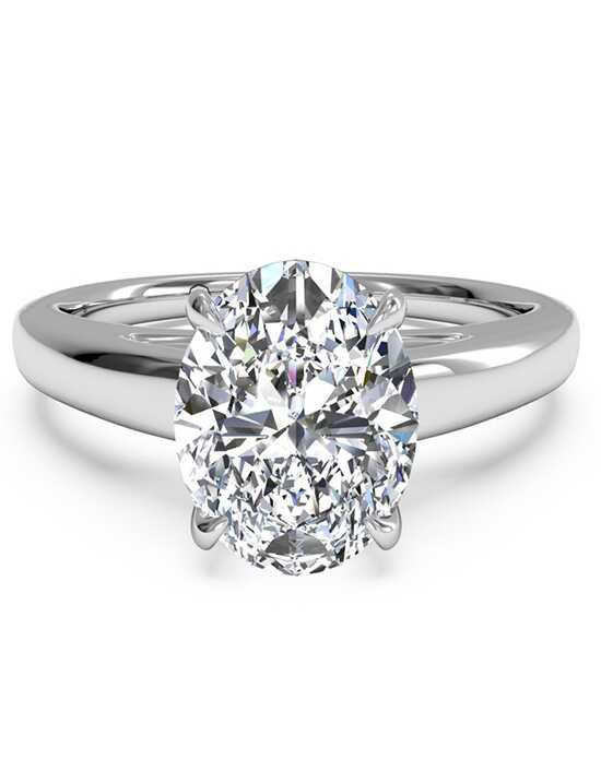 ritani solitaire diamond cathedral engagement ring - Oval Wedding Rings