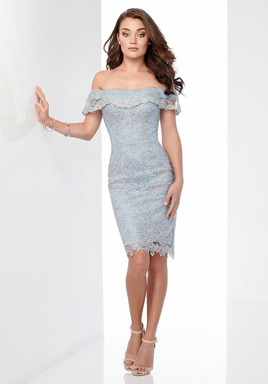 Social Occasions by Mon Cheri 218810 Blue Mother Of The Bride Dress