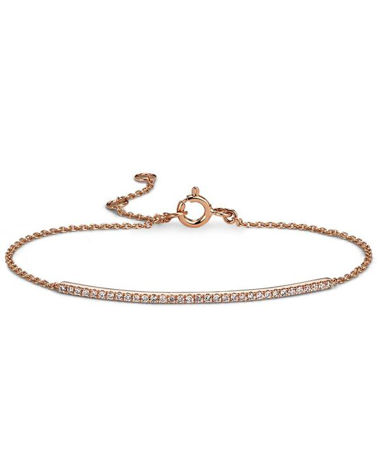 Blue Nile Mini Diamond Bar Bracelet in Rose Gold Wedding Bracelet photo