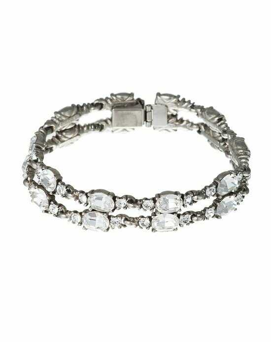 Thomas Laine Ben-Amun Double Row Crystal Bracelet Wedding Bracelet photo